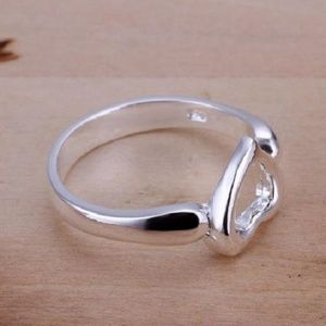 Jewelry - Lovely Heart Ring Size 8 Solid Silver